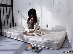 Poor Japanese Shizuka Minami is locked in jail and fucked by cop