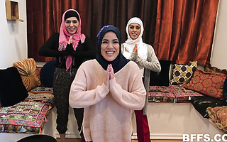 Hijab party turns into reverse gangbang with BBC