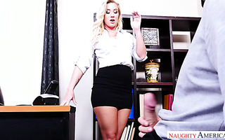 Blonde Bailey Brooks receives hardcore pounding from coworker
