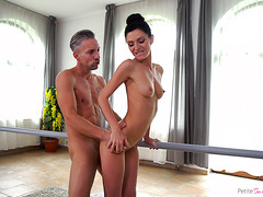 Statuesque Lina Arian is satisfied by large cock