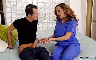 Nurse stepmom Richelle Ryan cures stepson's painful boner with stepdaughter