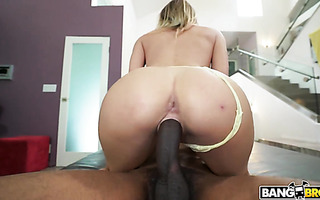 Natalia Starr takes big black cock up her hairy Polish pussy