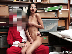 Katya Rodriguez is punished by Santa's north pole for being a bad girl