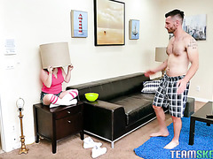 Shorty Luna Bright is dicked after hide-and-seek