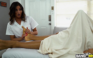 Therapist Helena Price is roughed by monster dicked client