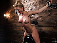 Cherie DeVille reaches insane orgasms, bondaged to high powered sybian