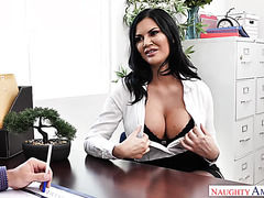Thick sales manager Jasmine Jae gets smashed by boss