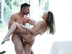 Young and beautiful Paige Owens makes love with older lover