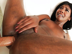 Daizy Cooper, asstastic ebony cutie, survives insanely painful anal drilling
