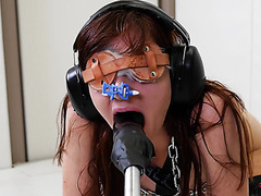 Audrey Holiday has sensory deprivation fun with ass-fucking machine