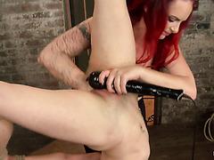Mistress Mz Berlin treats hanged slave Iona Grace to brutal fisting