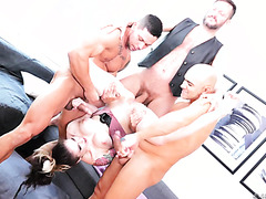 Loose Anna De Ville in insane anal DP gangbang