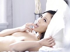 Jasmine Grey, oriental fairy, meets her lover on bed