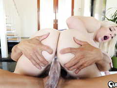 Allie Nicole drains balls of stepdad with her creamy pussy