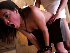 Truly brutal anal doggyfuck in bondage with Amara Romani