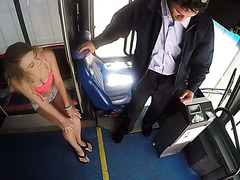 Bus driver gets seduced by curvy Polish blondie Natalia Starr