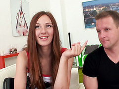Hot pickup fuck with amateur Russian redhead Irina Pavlova