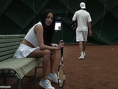 Luxurious French dame Anissa Kate does anal after playing tennis