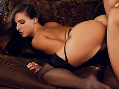 Passionate PAWG Amirah Adara is gently fucked in stockings