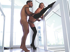 Adira Allure is fucked and creampied in trimmed pussy with passion