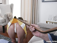 Zoe Sparx - young grand step-daughter roughed by old gramps