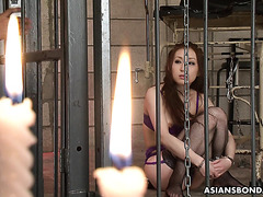 Jap MILF slave Asuka Soma gets her wet hairy cunt tortured!!!