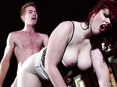 Plump redhead from England Jaye Rose is drilled at the pub