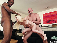 Tiny hoe Piper Perri is not afraid of threesome with monster cocks