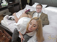 Superb Cathy Heaven gets spanked and fucked by her boss
