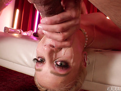 Filthy Chanel Grey squirts hard while her holes being destroyed