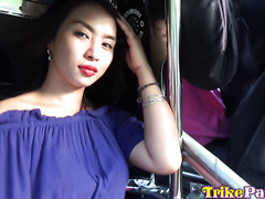 Big assed and creamy Filipina girl tries white dick and loves it