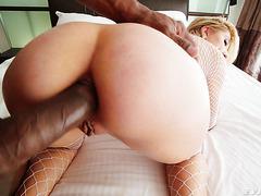 Paisley Bennett's hardcore interracial anal dick down