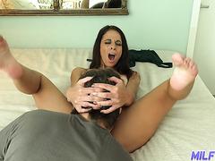 Friend's hot mom Eva Long reaches intense orgasms on fresh cock - POV