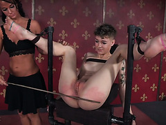 Billy Nyx gets whipped and toyed by mistress London River