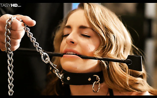 Teen on a leash Kimmy Granger is fucked hard like she wanted