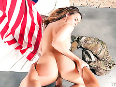 Dillion Harper spends her 4th of July with a big dick