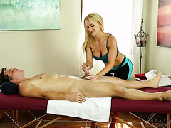 Fit and shaped Alix Lynx fucks her client at a massage parlor