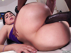 11 inches of black meat in Valentina Nappi's ass and mouth