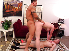 Melody Jordan is a redhead with a plump booty and she hates her Asian cuckold