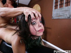 Curious girl Gina Valentina takes punishment with pleasure