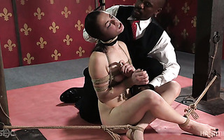 Ivy Addams gets dominated and toyed roughly in mouth and pussy