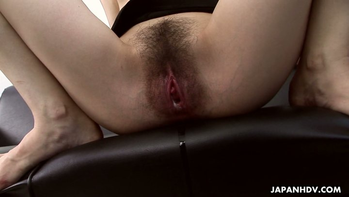 Wet hairy cunt of Asian office slut get fucked and creampied at the workplace