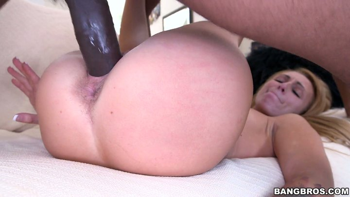 Getting deep black huge cock totally inside