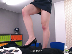 New office babe Serina dominates submissive office nerd