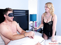 Bailey Brooks tricks BFF's husband into fucking her pink pussy