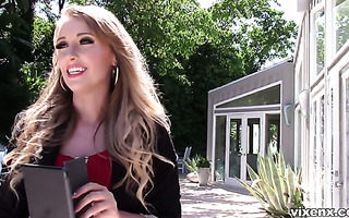 Curvy Harley Jade fucks lucky dude to make him sell his house