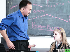Dolly Leigh fucks her music teacher to pass the course